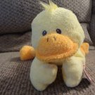 2007 WT Ty Pluffies Ducky Yellow Tylux Duck Lovey Plush 10""