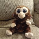 2010 Ty Medium Beanie Boos Coconut Brown Furry Monkey Lovey Plush 10""