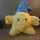 Sprout 2013 Childrens Network #A45154 Yellow Star Blue Nightcap Pillow Lovey Plush 16""
