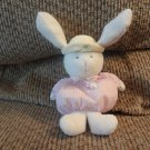 Carters Prestige #43510 Pink Striped Yellow Butterfly Hat White Bunny Rabbit Rattle Plush 9""