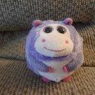 "2011 Ty Beanie Ballz Dewdrop Lovey Purple Pink Hippo Plush 5"""