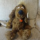 WT Vintage 1995 Russ Berrie #2507 Nuzzle Twisted Fur Brown Puppy Dog Plush 20""