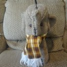 Vintage Atlanta Novelty Gerber Products Haiti Brown Tan Upholstered Stitched Elephant Plush