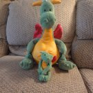 Lot Of 2 Gund Scales and Tails #20198 Fafner Sr And #20186 Magnatudes Dragon Plushes