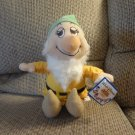 NWT Toy Factory Walt Disney The Seven Dwarfs Bashful White Beard Lovey Plush