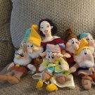 "WT Disney Lot of 8 Satin Dress Velvet Robe Snow White and The 7 Dwarfs 17"" 9"""