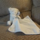 2014 NWT Carters Baby Cuddle Blanket White Silver Lovey White Teddy Bear Plush Security Blanket