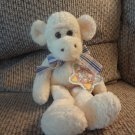 WT Vintage 1999 Commonwealth Hug A Plush Tan Blue Plaid Bow Yellow Cream Monkey Plush