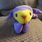 1998 Ty Pillowpal Purple Yellow Floppy Laying Lamb Lovey Plush 14""