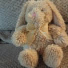 2011 Commonwealth Tan Pink Gold See Thru Bow Bunny Rabbit Plush 12""