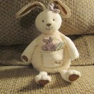 Eden Learning Curve White Green Purple Removable Bunny Pouch Hug Bunny Rabbit Plush 12""