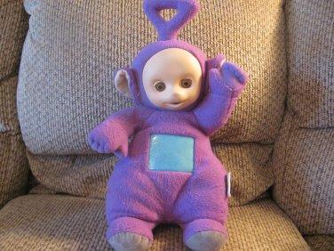 "Vintage 1998 Playskool Hasbro Teletubbies Talking Tinky Winky Purple Blue Screen Lovey Plush 18"""