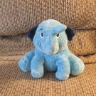2010 Hasbro Navy Light Blue Elefun Elephant Plush Lovey 6""