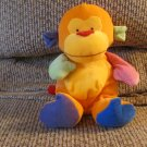 2005 Ty Pluffies Funky Monkey Multicolor Monkey Lovey Plush 10""