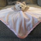 Baby Essentials Rattle Pink Tan Teddy Bear Polka Dot Bow Security Blanket Lovey 16x15""