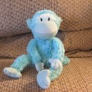 Galerie Light Blue Pink Cheek Long Arms Legs Floppy Monkey Lovey Plush 11""