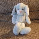 2001 Commonwealth Blue White Long Legs Arms Floppy Puppy Dog Lovey Plush 13""