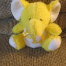 Vintage Puli International Inc Love Bug Yellow Elephant Lovey Plush 7""