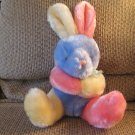 Remona Plush Puli International Inc Pastel Multicolored Bunny Rabbit Lovey Plush 9""