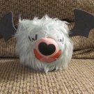 2011 Jakks Pacific Pokemon Black & White Woobat Blue Furry Black Felt Wings Lovey Plush 10""