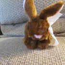 "Animal Adventure Brown Pink White Bunny Rabbit Plush 9"""