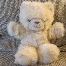 "Vintage Princess Soft Toys Tan Fluffy Fuzzy Teddy Bear Plush Lovey 11"""