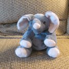 LN 2013 Ty Pluffies Winks Tylux Elephant Lovey Plush Gray Pink Black Button Eyes 11""