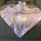 LN Babyboom Baby Boom #90347 Pink Musical Heart Bunny Rabbit Lovey Security Blanket 16x17""