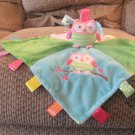 Mary Meyer Baby Taggies Owl Lovey Patchwork Pink Green Blue Security Blanket
