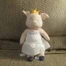 Ikea White Klappar Cirkus Circus Pig Ballerina Princess Crown Lovey Plush