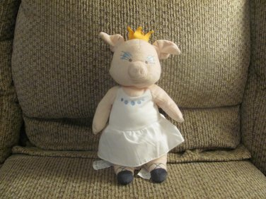 Ikea White Klappar Cirkus Circus Pig Ballerina Princess Crown Lovey Plush