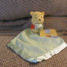WT Walt Disney Winnie The Pooh Yellow Red Green Holding Blanket Security Blanket 12x12""