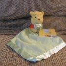 "WT Walt Disney Winnie The Pooh Yellow Red Green Holding Blanket Security Blanket 12x12"""