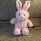 Vintage Easter Pets Pink Blue Bow Bunny Rabbit Lovey Plush 13""