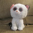 2013 Ty Beanie Boos Medium Muffin White Black Pink Calico Kitty Cat Lovey Plush 9""
