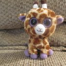2012 Ty Beanie Boos Small Safari Brown Tan Purple Giraffe Plush 7""