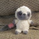 Aurora Yoohoo Friends Small Beanie Boos White Gray Pink Laughing Lemur Plush 6""