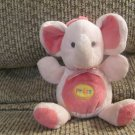 """Carters Child of Mine #88232 Pink Light Up Musical Twinkle Twinkle Elephant Crib Toy Plush 7"""""""