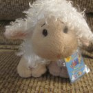 WC Ganz Webkinz Lil' Kinz #HS201 White Lamb Lovey Plush 8""