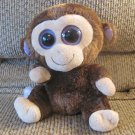 2010 Ty Beanie Boos Med Coconut Brown Purple Monkey Lovey Plush