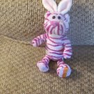 """Galerie Reeses Purple Stripped Bunny Ears Leopard Lovey Plush 10"""""""