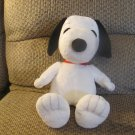 Kohls Cares For Kids Peanuts White Black Red Collar Beagle Snoopy Plush Lovey 14""