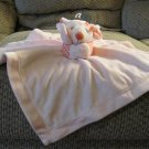 """Carters One Size Pink Hot Pink Stripes Field Mouse Rattles Security Blanket Lovey Plush 14x15"""""""