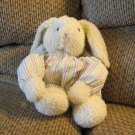 2002 Mango Magnetic Multicolor Pastel Striped Bunny Rabbit Plush Lovey
