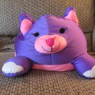 Moshi By Brentwood Purple Kitty Cat Microbead Lovey Plush
