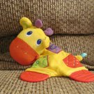 LN Bright Starts Crinkle Teether Yellow Red Giraffe Lovey Security Blanket Plush 8""