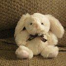 "Galerie Hershey Company White Pink Lovey Small Bunny Rabbit Plush  6"""
