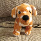 HTF Die Spiegelburg #25112 German Carmel Brown Cream Spotted Puppy Dog Lovey Plush 9""