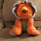 Mary Meyer Cheery Cheeks Orange Red Corduroy Yellow Green Striped Lion Lovey Plush 16""