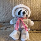 Vintage Avon Interpur Hooded Jacket Stripped Shirt Scarf Raccoon Lovey Plush 13""